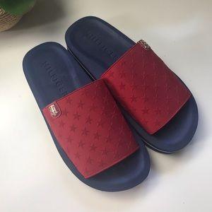 Tommy Hilfiger Slides Red & Blue Star Size 7